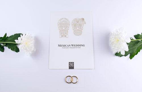 Mexican wedding invitation